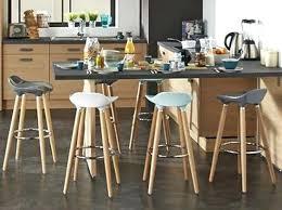 banc pour ilot de cuisine tabouret pour ilot de cuisine cuisine bois noir tabouret haut plan