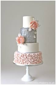 silver wedding cakes wedding cakes tunbridge blush and silver wedding cake