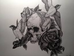 couple of bird roses and skull tattoo designs photo 1 2017 real