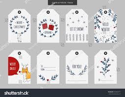 set christmas new year holiday gift stock vector 543463711