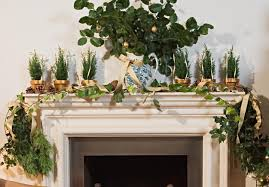 Live Greenery Christmas Decorations by Mantel Christmas Decoration Ideas Gallery