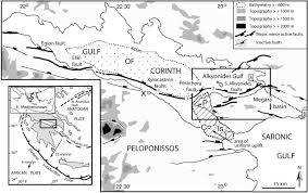 Corinth Greece Map by Normal Faulting And Crustal Deformation Alkyonides Gulf And