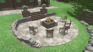 Pictures Of Patios With Fire Pits Front U0026 Backyard Landscaping Fire Pit Patio Walkout Basement