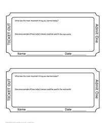 ticket template free download exit ticket template exit ticket template 9 download free