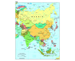 Map Of Asia Countries Politacal Map Of Asia You Can See A Map Of Many Places On The