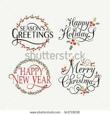 merry happy new year happy stock vector 343719230