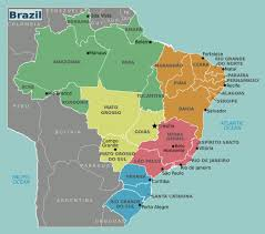 Maps South America by Large Brazil Regions Map Brazil South America Mapsland