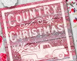 country christmas country sign svg etsy