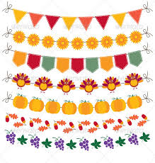 thanksgiving bunting and decoration set by lattesmile graphicriver