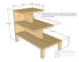 Drafting Table Plans Step Side Table West Elm Knockoff Living Room Tutorials