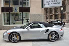 gold porsche convertible 2015 porsche 911 turbo s stock l178ab for sale near chicago il