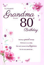 grandma 80th birthday card ebay