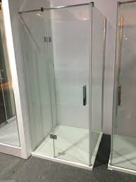 Shower Screen Doors Frameless Glass Shower Screen Square Quadrant 900x900mm