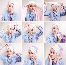 tutorial jilbab segi 4 untuk kebaya kumpulan tutorial hijab segi empat terbaru simple modis dan trendy