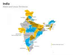 Map States by Powerpoint Map Of India India States And Districts Are Easy To Edit