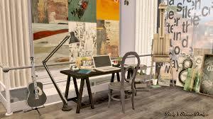 sims4 artist u0027s house 藝術家的房子pics only ruby u0027s home design