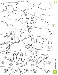 farm animal coloring book coloring pages farm animals goat family stock vector image