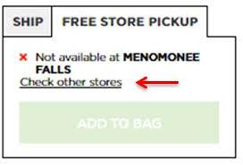 buy online free store pickup
