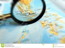 Philippines On World Map by Focus On Manila Philippines On Map Stock Photo Image 29199720