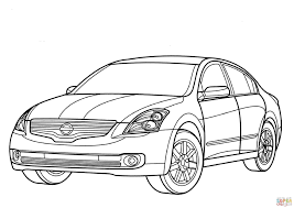 nissan white car altima nissan altima hybrid coloring page free printable coloring pages