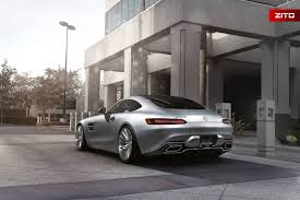 iridium silver mercedes amg gt s on brushed clear zito wheels
