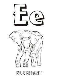 alphabet coloring pages free elephant alphabet coloring pages of