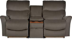 three piece contemporary power reclining loveseat with storage and