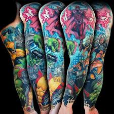 hulk tattoo sleeve pictures to pin on pinterest tattooskid