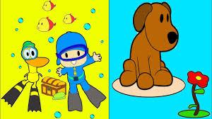 pocoyo coloring mix children coloring kids pocoyo