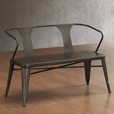 Outdoor Bench Seat Plans by Bench Top Metal Outdoor Seat Gray Industrial Vintage Indoor Garden