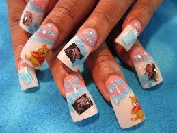Baby Nail Art Design Baby Shower Picture Nails Nail Art Gallery