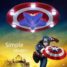 Captain America Bedroom by Aliexpress Com Buy Kid U0027s Room Lighting Captain America Ceiling