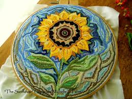 Punch Needle Rug Hooking Michelle Palmer Punch Needle Sunflower
