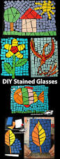 Kids Stained Glass Craft - diy stained glasses more kids art ideas pinterest glass