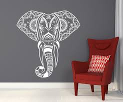 mandala elephant wall decals hippie decal yoga vinyl sticker boho