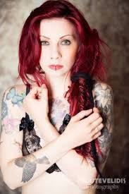 redhead tattoo tattooed tattoos red hair gothic goth alternative