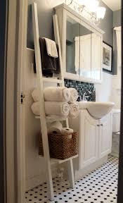 towel storage for small bathroom creative minimalist white bathroom decoration come with towel storage ladder