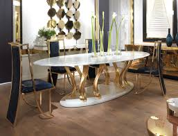 Dining Table Metal Top Elledue Femme Rouge Magazine