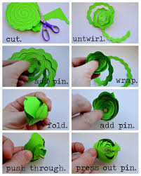 Paper Craft Steps - paper handicraft flower step by step search pretty