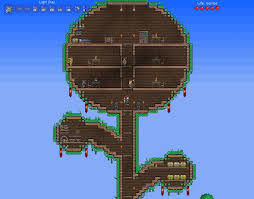 Treehouse Design Software by Terraria Tree House Speedbuild Youtube