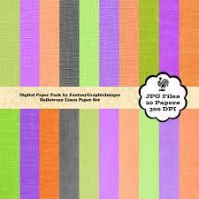 halloween colored scrapbooking background papers halloween linen digital paper pack orange black purple green
