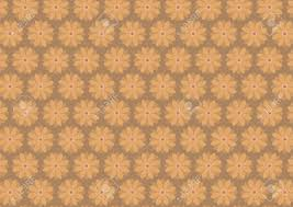 autumn floral pattern in ochre ang dark yellow color shades