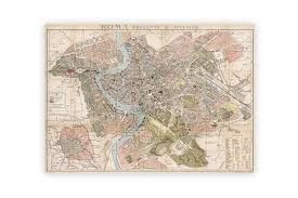 map paper map of rome poster paper cyclemiles