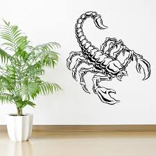 online get cheap insect wall decor aliexpress com alibaba group personalized color scorpion vinyl wall art sticker decal insect predator mural room decoration adesivo de parede