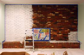 the story of us kitchen and family room painted brick fireplace