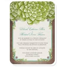 reception invitations rustic succulent garden reception only invitations at artistically