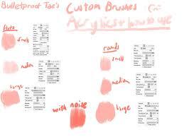 custom acrylic brushes paint tool sai by mintae chii on deviantart