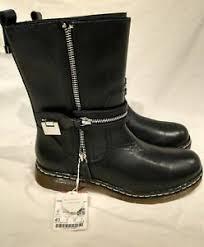 womens biker boots size 9 zara s black leather biker boots us size 9 ebay