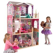 kidkraft 18 inch dollhouse doll manor with 12 accessories included