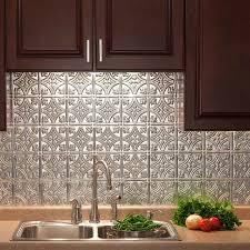 Fasade Traditional  Brushed Aluminum Kitchen Backsplash Panel - Aluminum backsplash